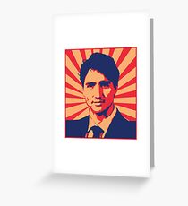 Justin Trudeau Propaganda Art Greeting Card