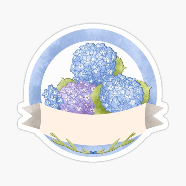 Flower Label Hydrangea  Sticker