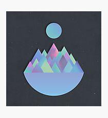 Moon Peaks Alternative Photographic Print