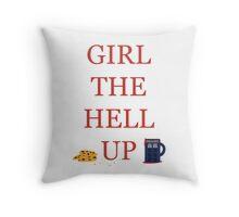 Carmilla Girl The Hell Up Throw Pillow