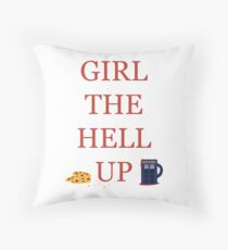 Carmilla Girl The Hell Up Throw Pillow