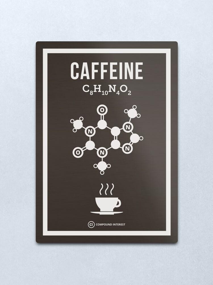 Alternate view of Caffeine Metal Print