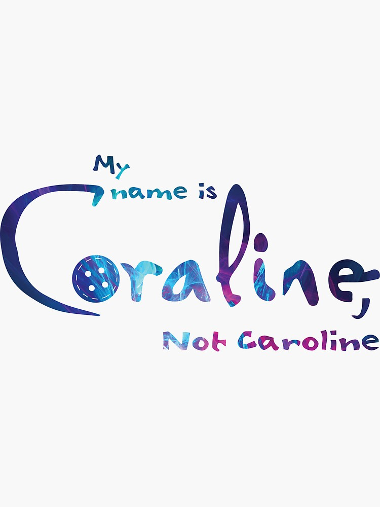 Coraline Name Stickers Redbubble