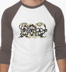 The Wise Monkeys Men's Baseball ¾ T-Shirt