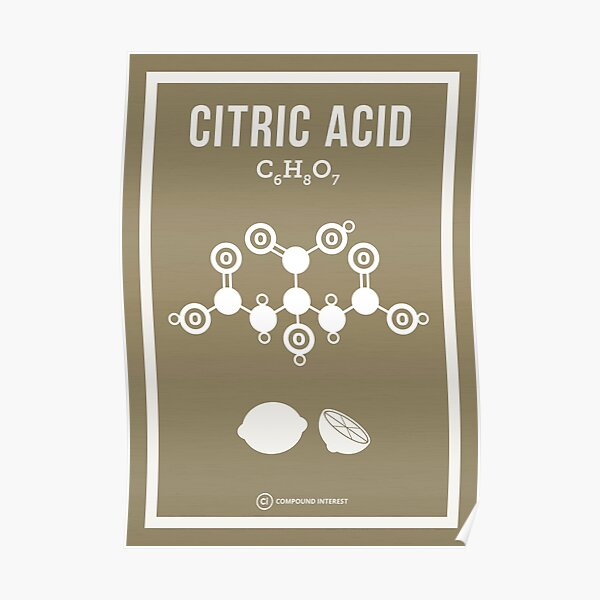 Citric Acid Poster
