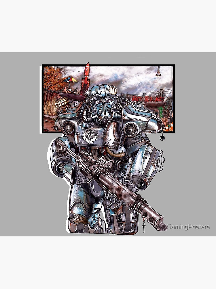 Fallout 4: Brotherhood of Steel Soldier Art by GamingPosters