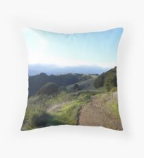 Saratoga Heights Skyline Ridge 2016.02.26 Throw Pillow