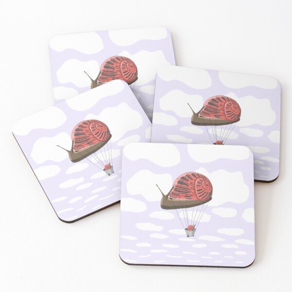 Travel by Snail Coasters (Set of 4)