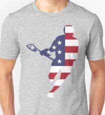 Lacrosse IRockMericaHorz Unisex T-Shirt