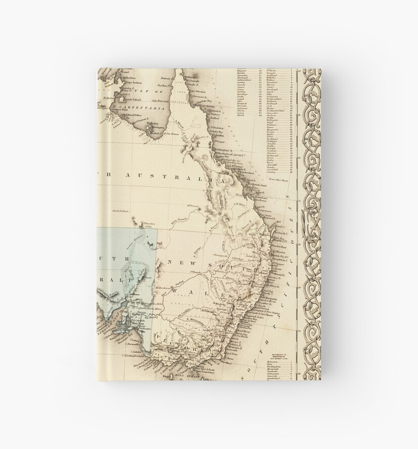 Australia Map 1850.Map Of Mysterious Australia C 1850 Hardcover Journals By Daniel
