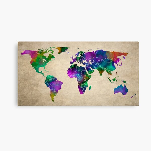 MAP of the WORLD ANTIQUE Canvas Print