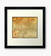 MAP of the REPUBLIC of TEXAS 1841 Framed Print
