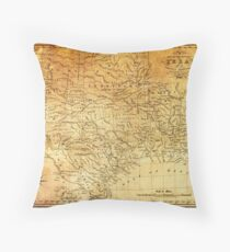 MAP of the REPUBLIC of TEXAS 1841 Throw Pillow