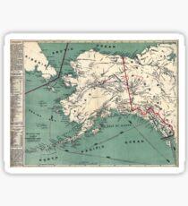 ALASKA GOLD RUSH SURVIVAL MAP/GUIDE  1897 Sticker