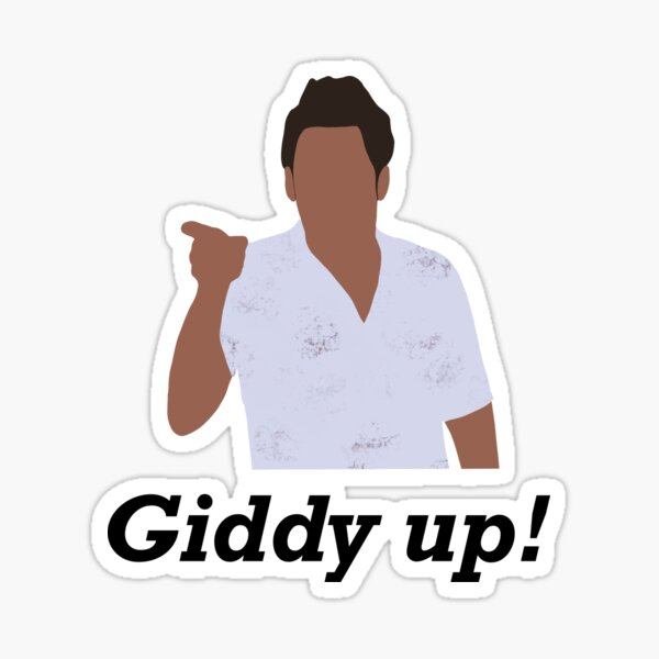 Seinfeld Kramer Giddy Up Sticker