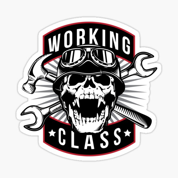 Working Class Skull Sticker