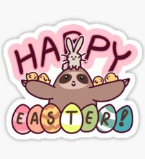 Happy Easter Sloth Sticker