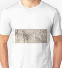 LEWIS & CLARK's HAND-DRAWN MAP OF DISCOVERY 1804 T-Shirt