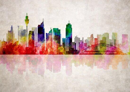 SIDNEY AUSTRALIA SKYLINE by Daniel-Hagerman