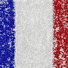 French Flag Splat Painting by Printpix