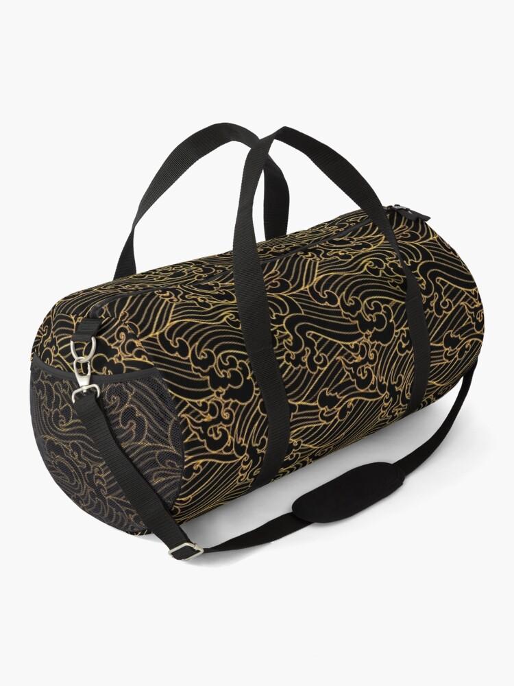Alternate view of Golden Waves In Black Duffle Bag
