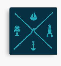 Sub-Aquatic Compass Canvas Print