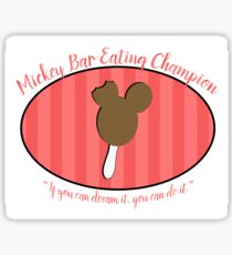 Mickey Bar Eating Champion Sticker