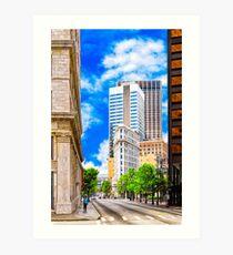 History Surpassed - The Atlanta Flatiron Building Art Print