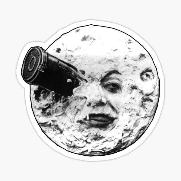 A Trip to the Moon (Le Voyage Dans La Lune) - face only Sticker