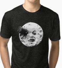 A Trip to the Moon (Le Voyage Dans La Lune) - face only Tri-blend T-Shirt