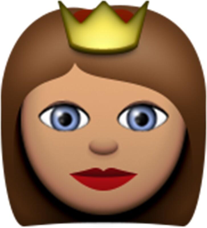 Quot Emoji Princess Brunette Quot Stickers By Paris1 Redbubble