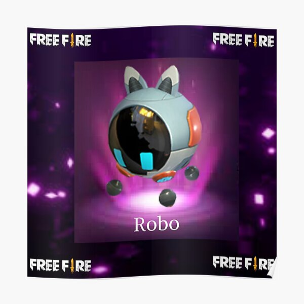 mascota Robo free fire Póster