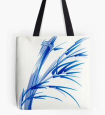 """""""Wind""""  blue sumi-e ink wash painting Tote Bag"""