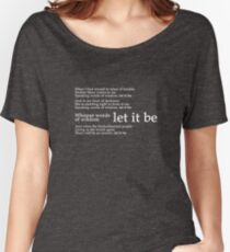 Beatles - Let It Be Lyrics Women's Relaxed Fit T-Shirt