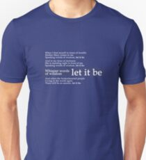 Beatles - Let It Be Lyrics T-Shirt