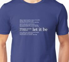 Beatles - Let It Be Lyrics Unisex T-Shirt