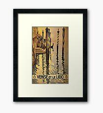'Venise Et Le Lido' Vintage Travel Poster Framed Print