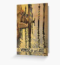'Venise Et Le Lido' Vintage Travel Poster Greeting Card