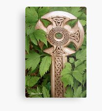 A Celtic Cross for St Patrick's Day Metal Print