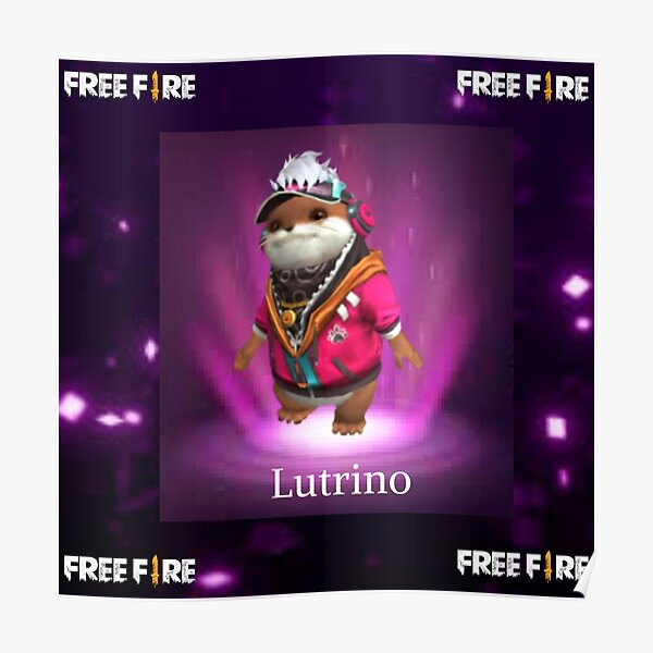 mascota Lutrino free fire Póster