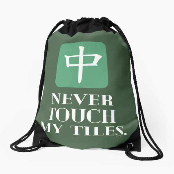 Drawstring Backpack Mahjong Tiles Bags