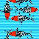 Arty Sharks by Michael Kienhuis