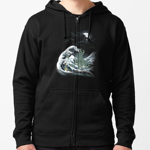 The Wave Off  R'lyeh  Zipped Hoodie
