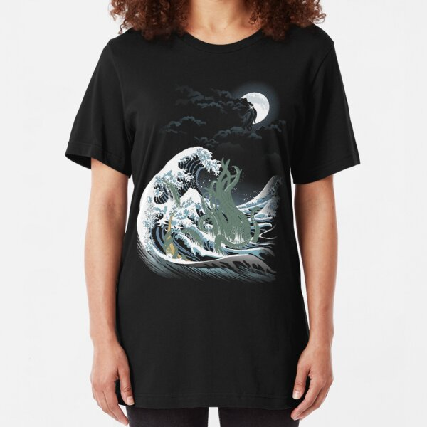 The Wave Off  R'lyeh  Slim Fit T-Shirt