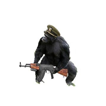 Chimp with an AK-47 by Nathan26