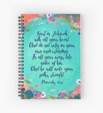 Sprüche 3: 5,6 Spiralblock