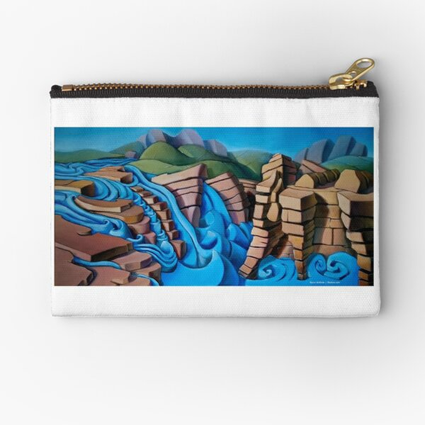 Athabasca Falls Zipper Pouch