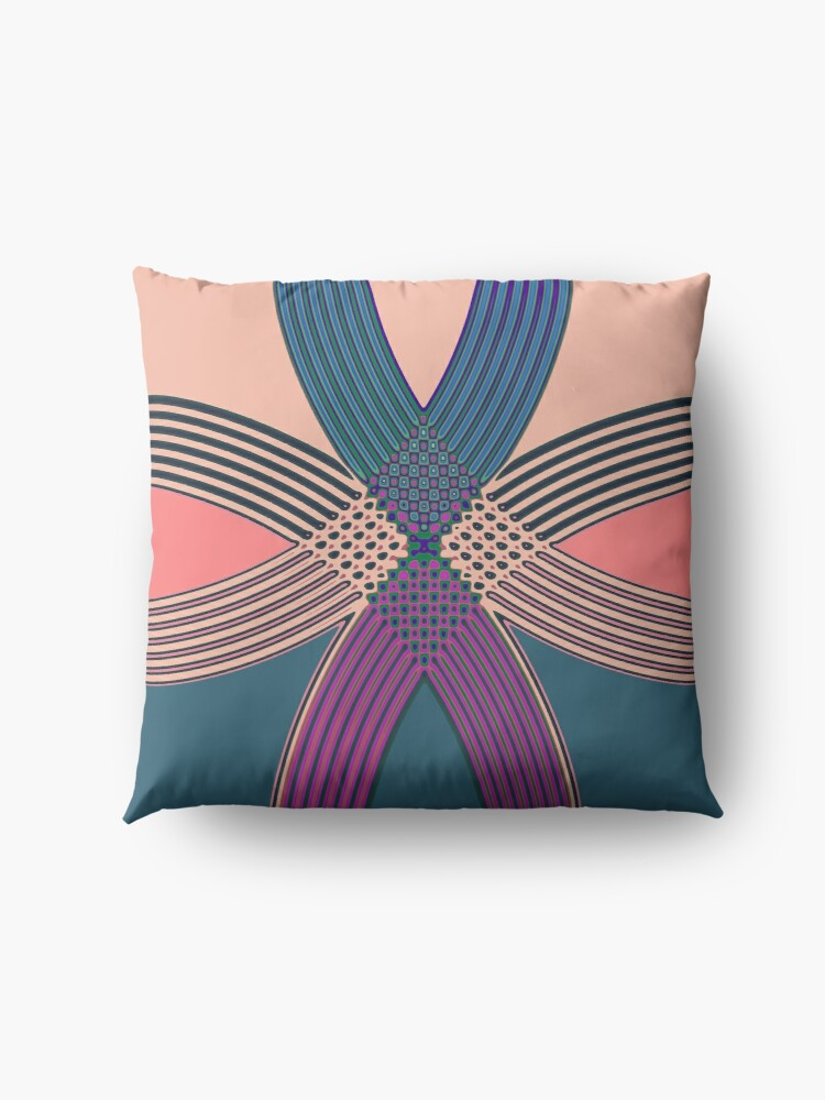Alternate view of Modern Abstract Pattern Curve Design 537 Floor Pillow