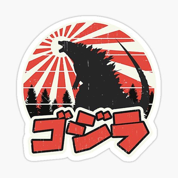 Godzilla Retro Sticker
