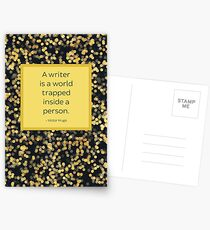 A Writer is a World Trapped Inside a Person Postcards